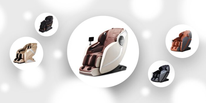 A graphic highlighting the 5 best Kahuna massage chairs.